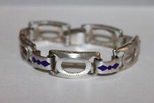 Art Deco Armband Silber 800 mit Emallie