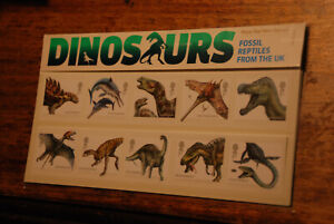 ROYAL MAIL MINT STAMPS 2013 PRESENTATION PACK 490 DINOSAURS FOSSILS REPTILES UK