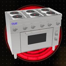 6 Platten Elektroherd mit Elektro Backofen  Snack TAM-SEBE105 D1