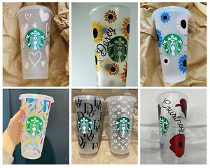 personalised Starbucks tumbler with straw /personalised Gift /Reusable cold Cup
