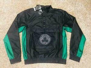 $120 Nike NBA Team Lightweight Black Boston Celtics Pullover Anorak Jacket!