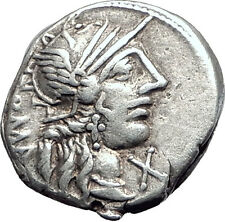 Roman Republic 123BC Rome Victory Chariot Authentic Ancient Silver Coin i63933