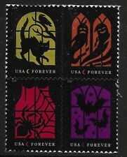 US Scott #5420-23, Block of 4 2019 Halloween VF MNH
