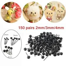 150 Pairs 2-4mm Glass Eyes for Needle Felting Sewing Bear Doll Toy Craft Tool