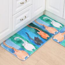 Bathroom Non-Slip Printed Watercolor Cat Bath Mat Soft Bathroom Bedroom