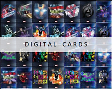 Topps Marvel Collect AVENGERS DIGITAL ART <30 DIGITAL CARD MOTION + BASE SETS>