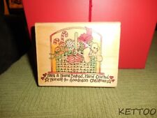 Used 1999 UPTOWN CRAFT Wood Mounted Rubber Stamp HAVE A HOME BAKED CHRISTMAS