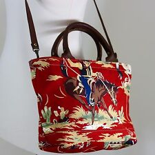 Accessories Unlimited Red Purse Cross Body Bucking Bronco Horse Cowboy Made USA