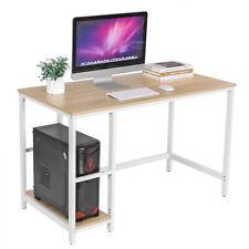 Schreibtisch Computertisch PC-Tisch mit 2 Regalebenen mit Metallgestell LWD47N