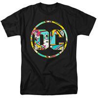 BATMAN 80S BAT LOGO DC Comics Classic Circle Design Licensed T-Shirt All Sizes