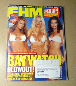 """CARMEN ELECTRA, PAM ANDERSON, BLEETH, ON THE COVER OF """"FHM"""" MAGAZINE, MARCH 2003"""