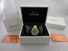 DEDIA Diamond LADIES WATCH Mother of Pearl Dial, Swiss, 34mm, Leather Band