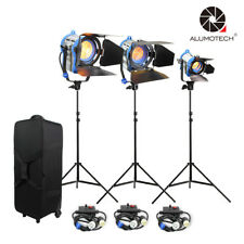 Fresnel Tungsten Spot light150+300+650W+case+Air cushion stand+3dimmer studi Kit