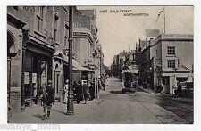 NORTHAMPTONSHIRE, NORTHAMPTON, GOLD STREET, TRAM, 1905