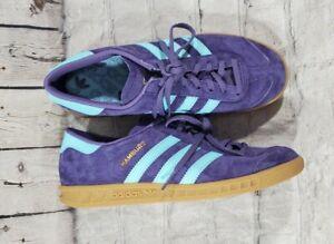 Adidas Originals Hamburg Fv1204 Tech Purple Clear Aqua Gum Shoes MENS SIZE 6
