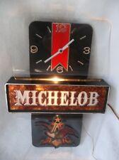 Vintage Michelob Beer Lighted Clock / Sign Working
