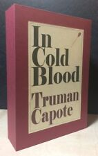 Truman Capote IN COLD BLOOD 1st Edition / 1st Printing Custom Slipcase