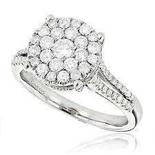 Damen Brillant Ring Diamanten Top Wesselton 1,40 Karat 14 Karat 585er Weißgold