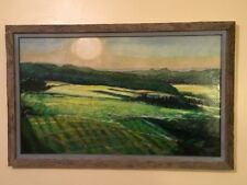 ORIGINAL SIGNED BY ARTIST OIL PAINTING!  PENNSYLVANIA  FARMLAND 26 1/2 X 18