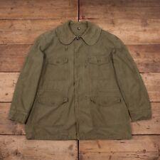 "Hombre Vintage Usaf Vietnam John Ownbey 60s verde campo Chaqueta Grande L 44"" XR 9695"