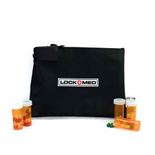 LOCKMED Large Black Medication Pill Bag w/ Combination Lock Free US Shipping