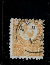 Hungary 2Kr ENGRAVED stamp PEST datestamp
