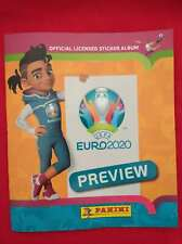2020 Panini EURO Preview ORANGE Version Empty Football Album and 6x Stickers NEW