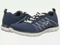 Skechers Women Flex Appeal 2.0 Act Cool Trainers blue/Multi size 3.5 ladys girls