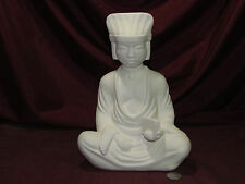 Ceramic Bisque Sitting Oriental Man w/ Book Ready to Paint Unpainted U-Paint