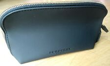 NEW AUTHENTIC BURBERRY BEAUTY BAG COSMETIC MAKEUP CLUTCH TRAVEL BLACK CASE ZIP