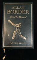 Allan Border, Beyond Ten Thousand, signed, autographed, 1993, special edition