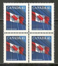 Canada #1361, 1995 45c Flag over Office Building, Booklet B4 Unused NH