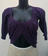 Gilet court type boléro violet PHARD Taille S Très bon état