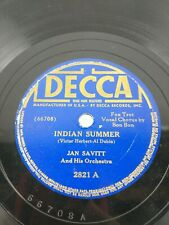 Jan Savitt And His Orchestra 78 Deca 2821 Indian Summer Sweet Dreams, Sweetheart