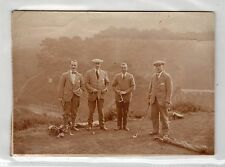 Albumen photograph of golfers at an unknown UK location (C23564)