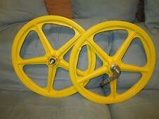 Old school BMX Skyway Tuff I mag wheel set NOS will fit GT