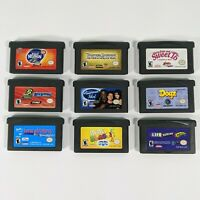 Nintendo Gameboy Advance Lot Of 10 Games Spongebob Pirates Barbie GBA Cartridges
