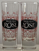 Lot of 2 VTG Tequila Rose Red Black Silhouette Collectible Shot Glasses Crisa