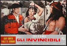UNCONQUERED orignal movie poster COOPER, DA SILVA, de mille ITALIAN RELEASE