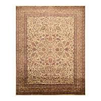 8'11'' x 12' Hand Knotted 100% Wool Traditional Saroukk 250 KPSI Area Rug Beige