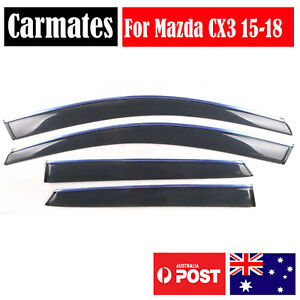 NEW Weather Shield Visor For Mazda CX3 15-18 4 Doors double sided tape AU SELLER