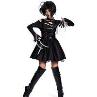 1980s Womens Adult Miss Edward Scissorhands Halloween Fancy Dress Costume