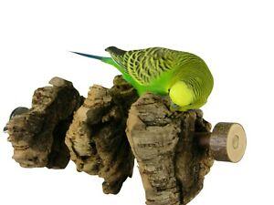 Knabberkork Sitzstange - 20 cm - für Wellensittiche, Nymphensittiche + Papageien