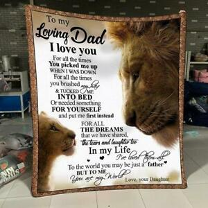 Lion Daughter To My Loving Dad I Love You For All The Times Sherpa Blanket