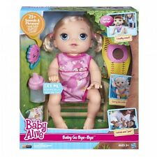 Baby Alive Muñeca Bebé vivo bebé ir Bye Bye (rubia) habla inglés y español