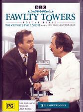 Fawlty Towers Volume 3 DVD John Cleese The Kipper~Waldorf Salad~Gourmet Night