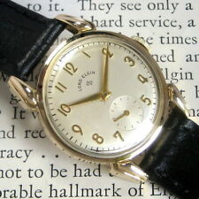 Mens Original 1958 Lord Elgin MODEL 4810 Fancy Lug 14K YGF Vintage 21j USA Watch