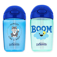 Dr Brown's Milestones Straw Sippy Cups with Lid 12 oz