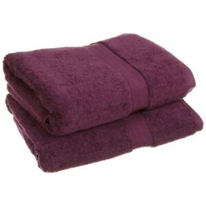 "2-pc Plum Superior 900 GSM 2-Ply Egyptian Cotton Bath Towel Set 30"" x 55"""