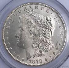 1878-CC MORGAN SILVER DOLLAR PCGS MS64, RARE COIN UNCIRCULATED, NR